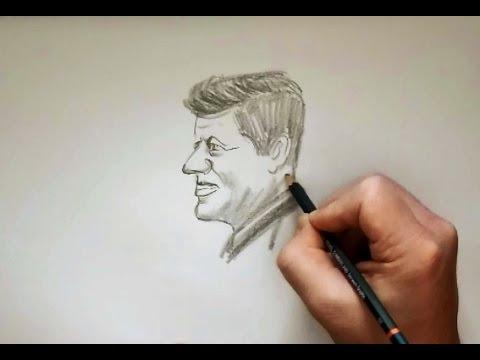 480x360 Drawing A Portrait Of John F Kennedy (Jfk)