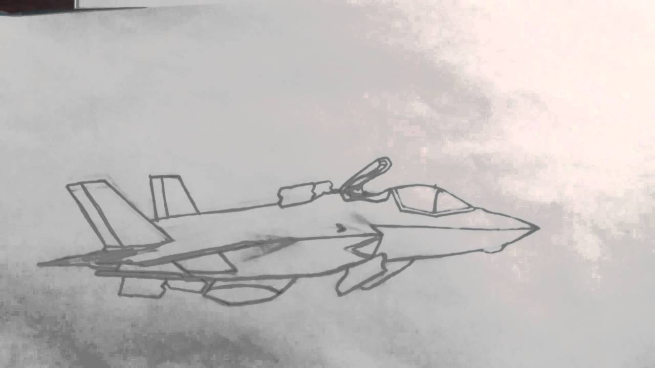 1280x720 F 35 Lightning Ii Drawing