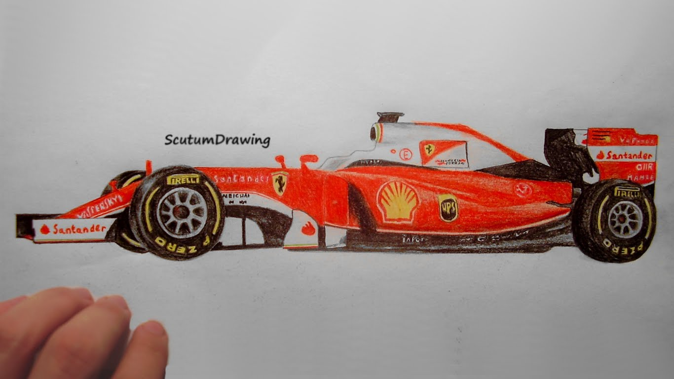 Perfect 850x600 F1 Car Drawings Nathanattwood99. 1366x768 Ferrari SF16 H