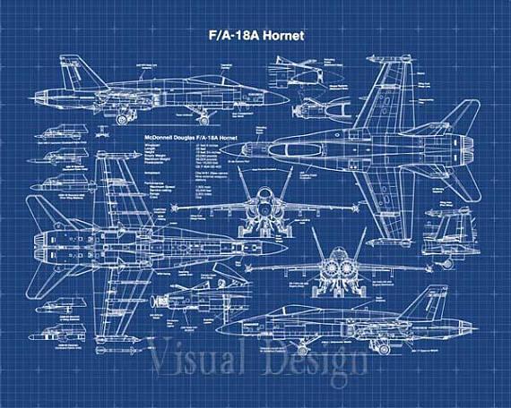 570x456 F18 Hornet Patent Print Patent Art Print Patent Poster