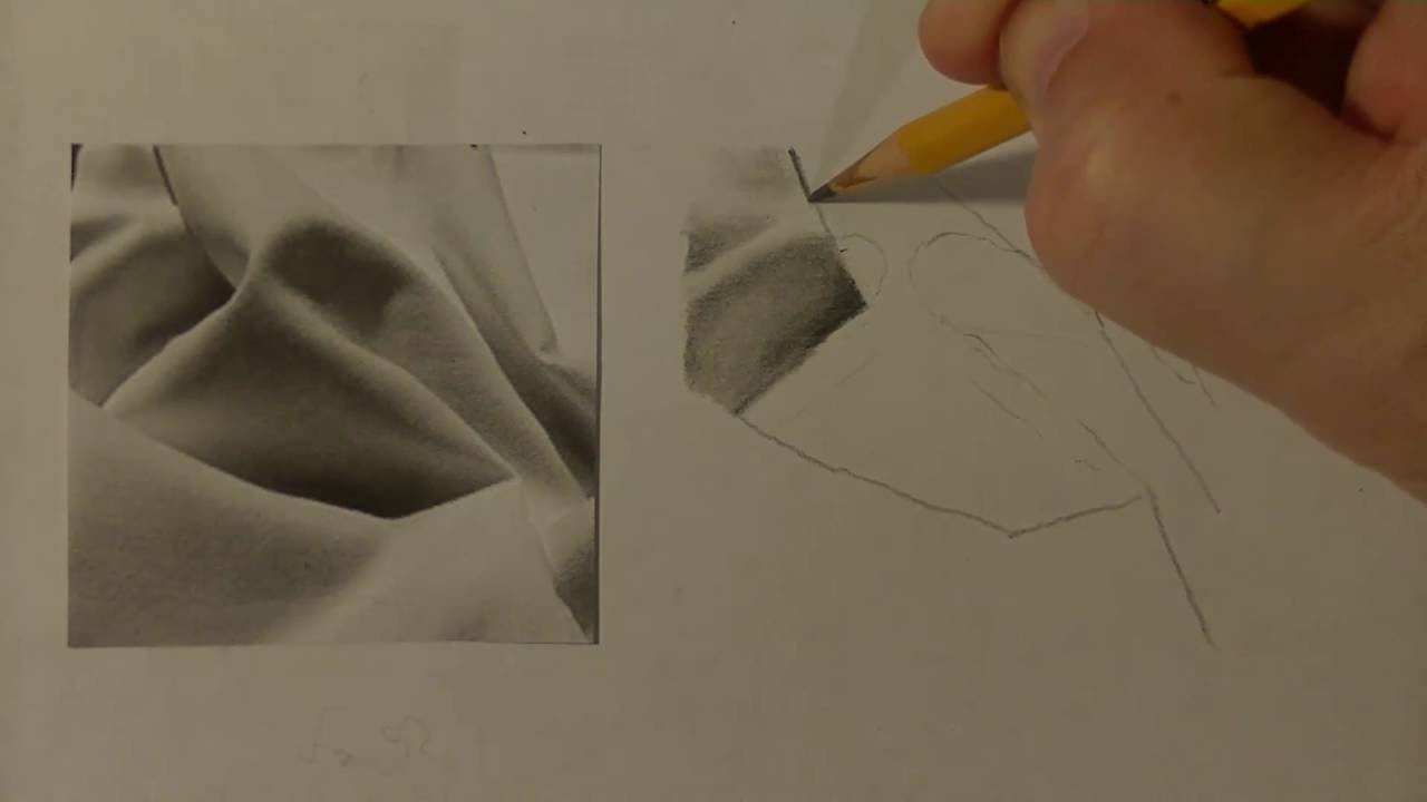 1280x720 How To Draw Fabric Folds Realistic Graphite Drawing Lesson