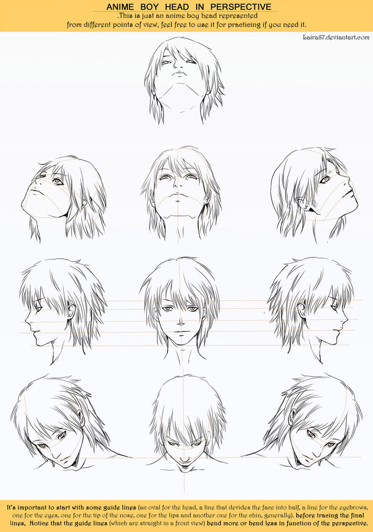 748x1067 Anime Head Angles Perspective By Lairam