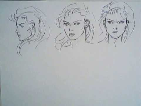480x360 Drawing Comic Books, Ep 1 (Girl Faces, Different Angles)