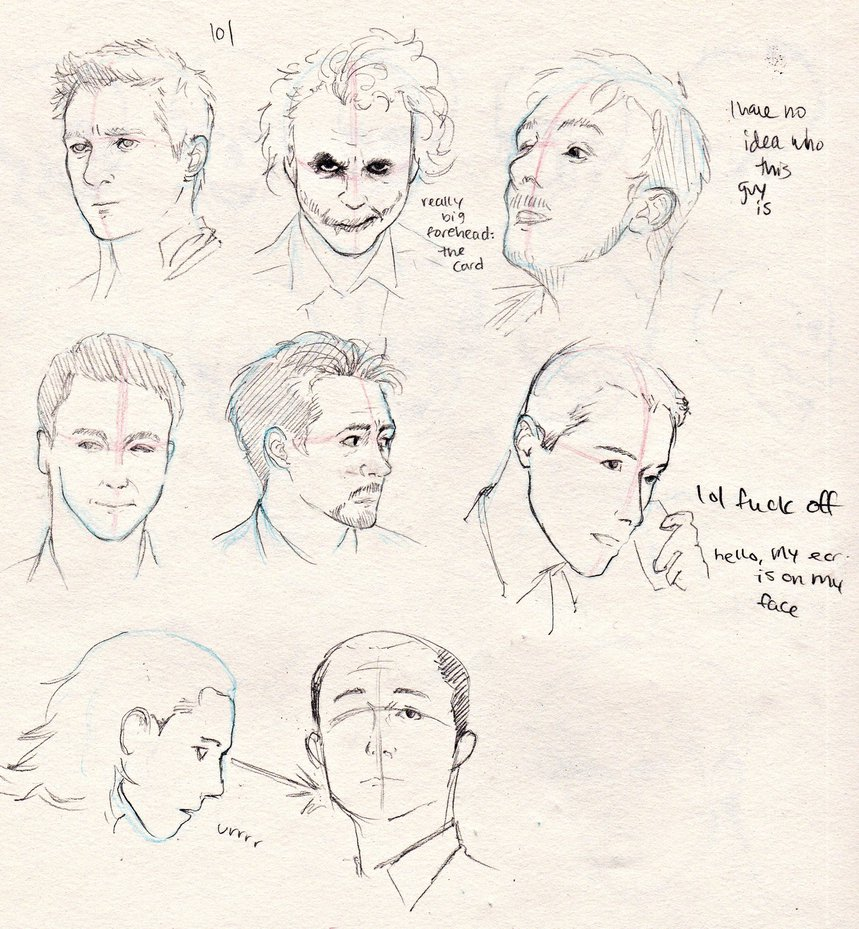 859x929 Practice Sketches Actor Face Angles By Kerlasia
