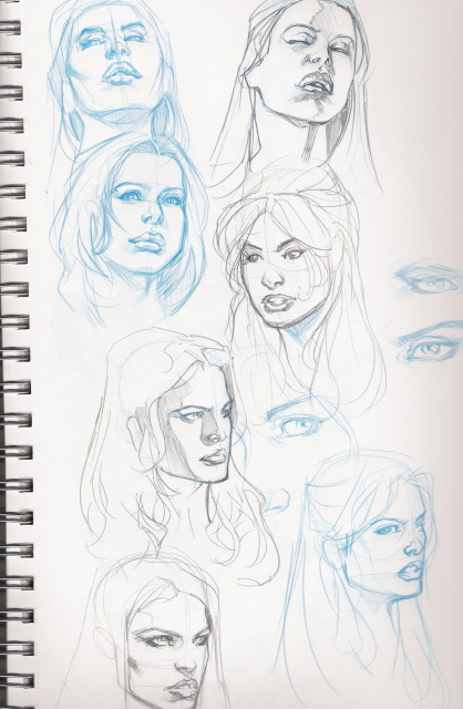 418x640 Female Faces In Many Angles By Kevin Sharpe