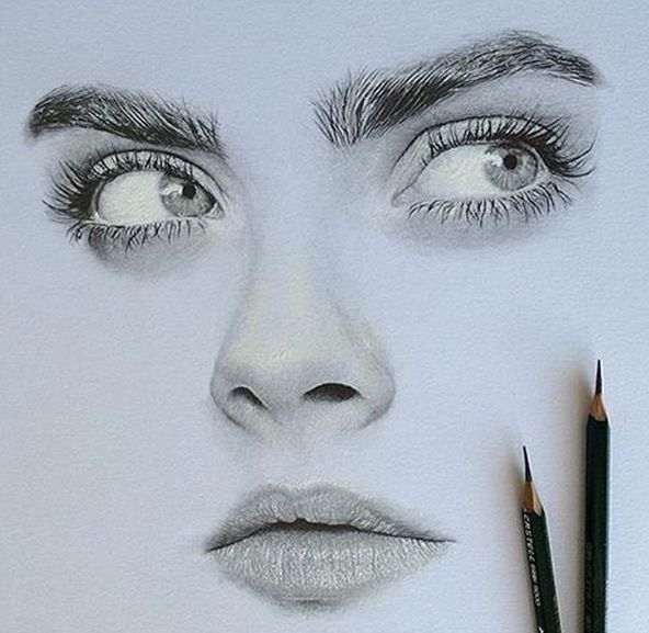 592x577 104 Best Images On Faces, Pencil Art And Pencil