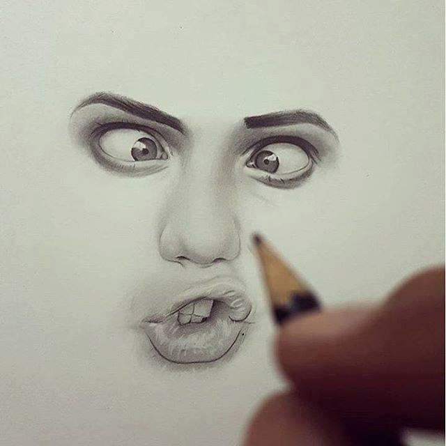 640x640 Face Drawing By Hisham Art