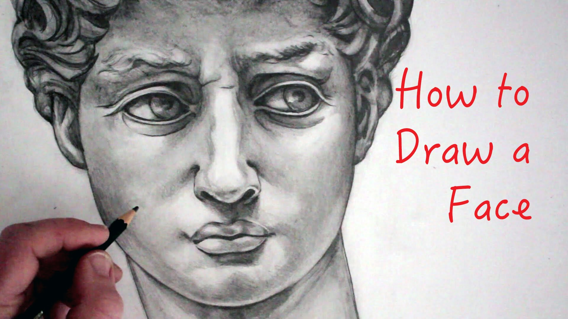 1920x1080 How To Draw A Face David Step By Step