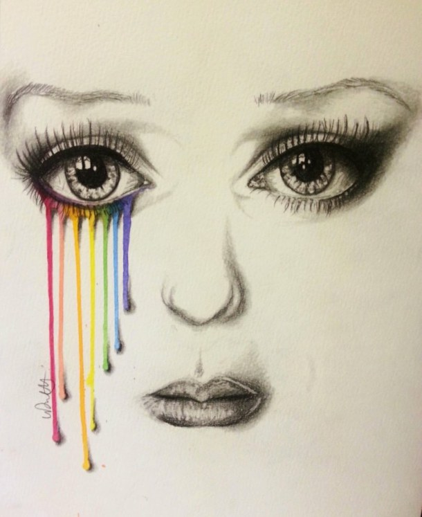 610x747 Art, Color, Drawing, Face, Girl Drawing Art