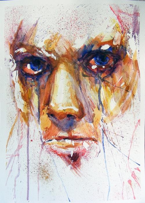 500x697 Art, Drawing, Eyes, Face, Girl