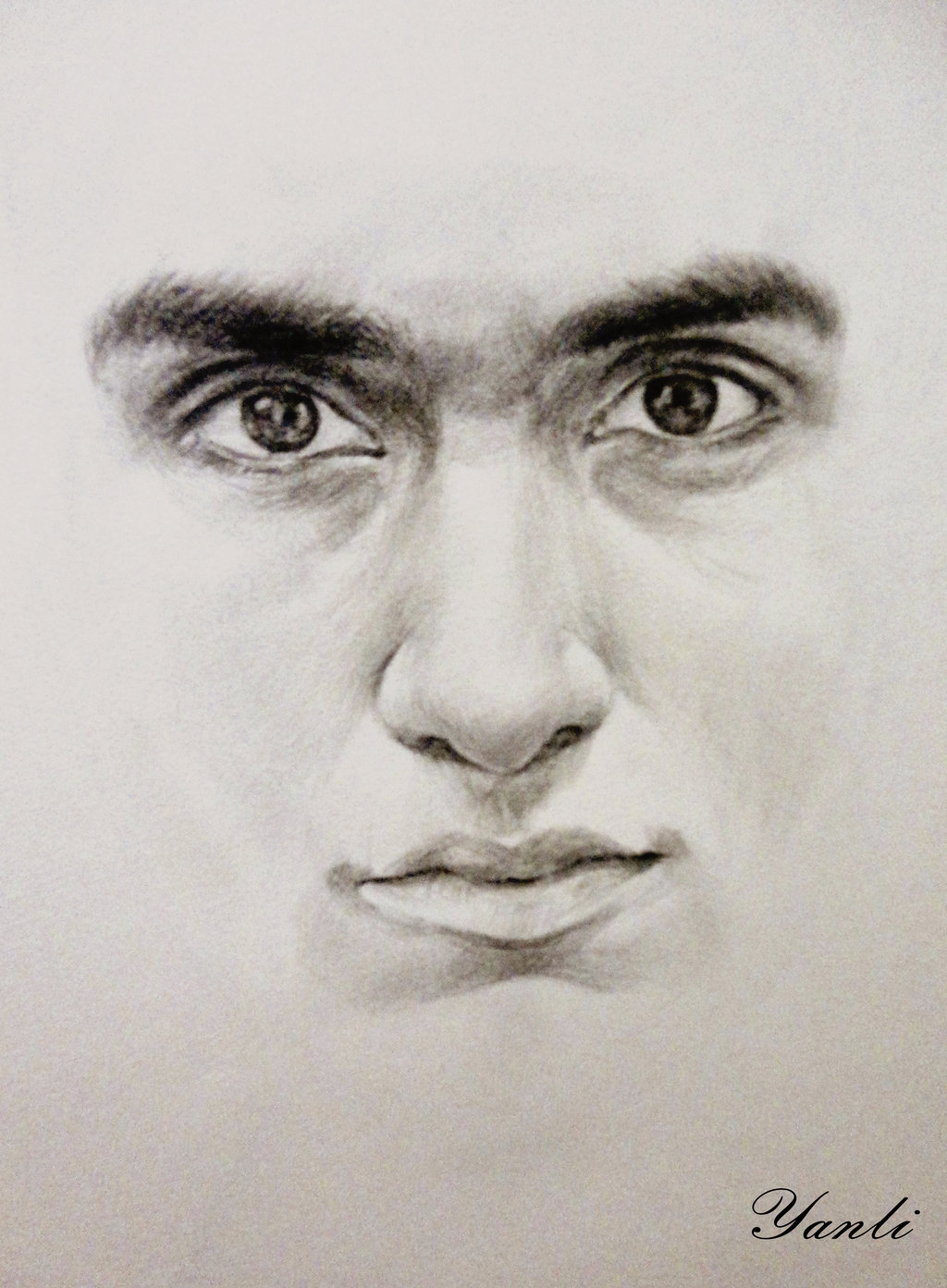1024x1393 Face Drawing Of My Boyfriend By Zombieyue