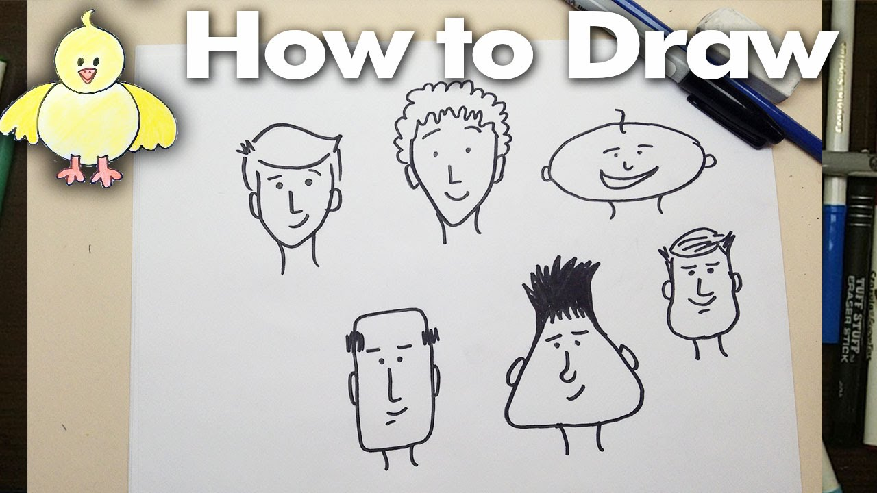 1280x720 Drawing How To Draw Easy Cartoon Faces Step By Step