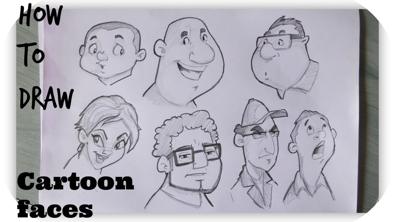 1280x720 How To Draw Cartoon Human Faces Character Design Timelapse