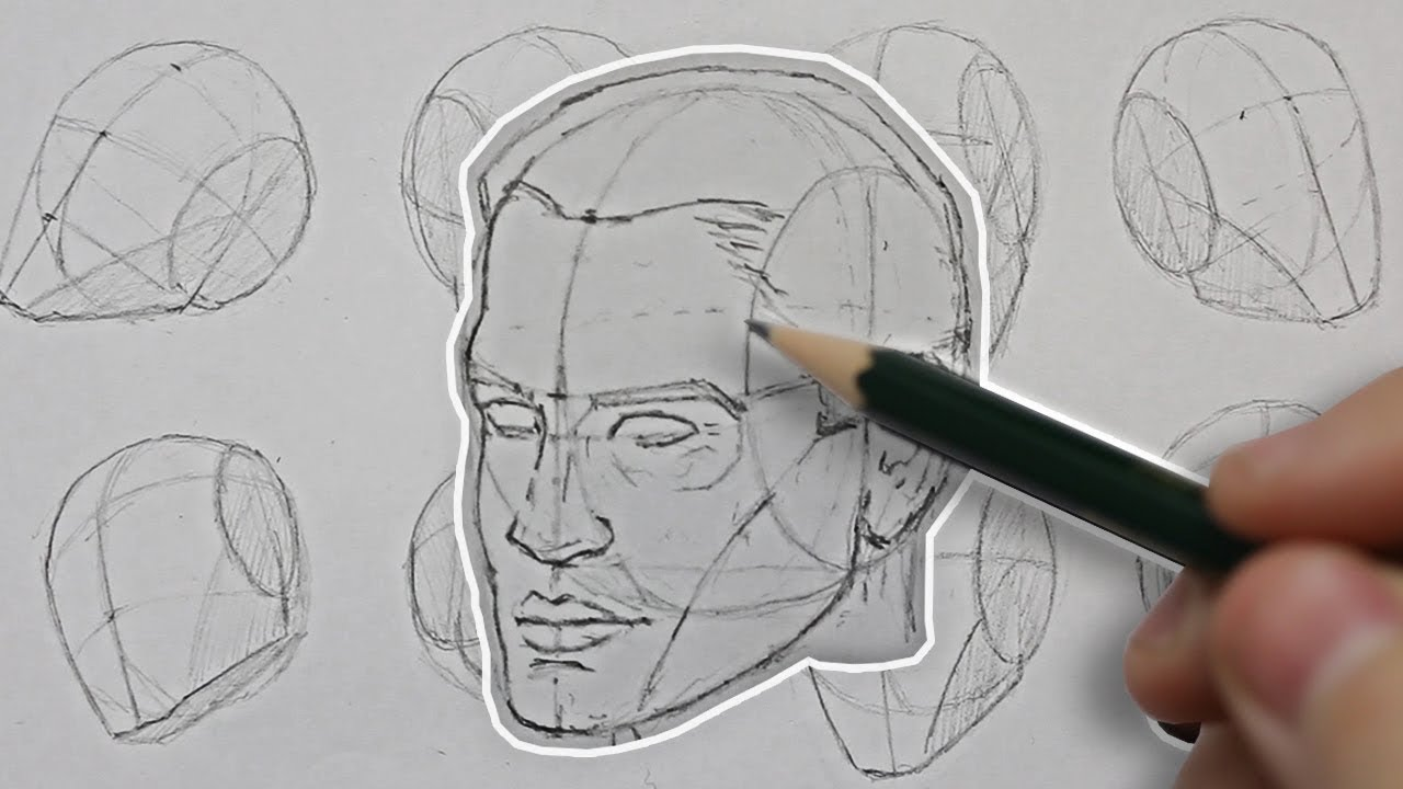 1280x720 Drawing The Head From Any Angle! Basic Construction Explained