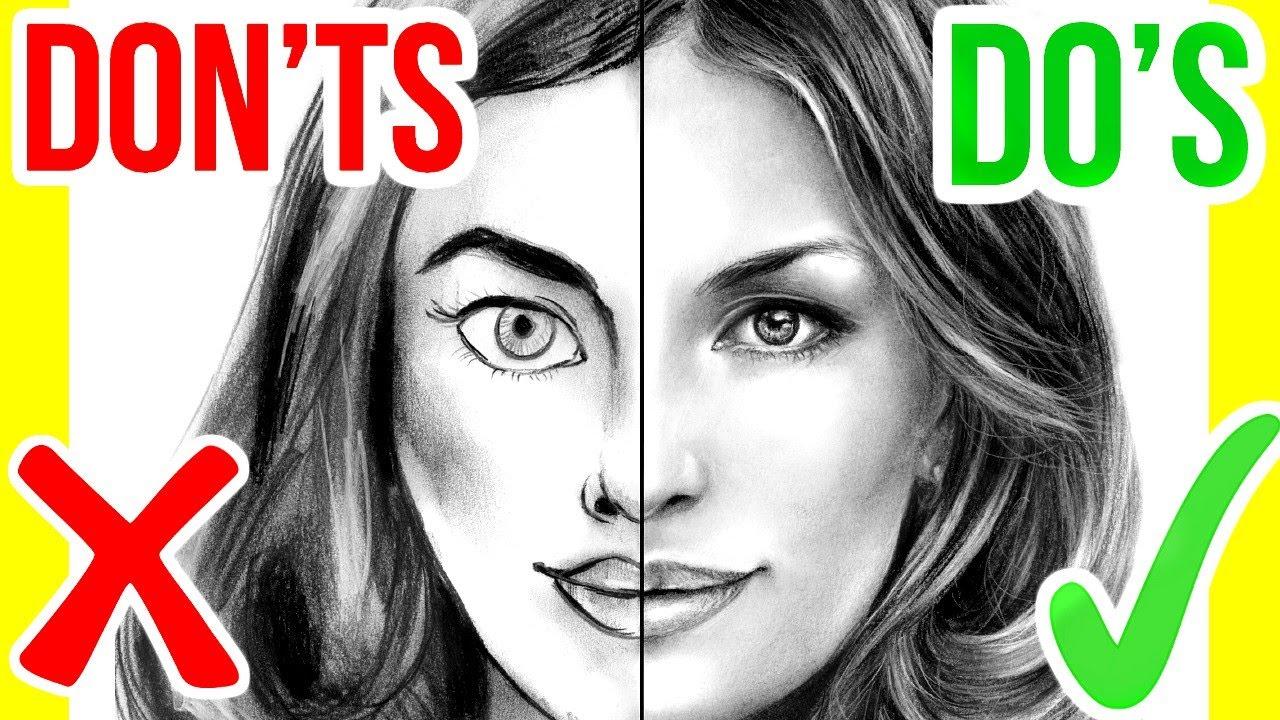 1280x720 DO#39S amp DON#39TS How To Draw A Face Step By Step Drawing Tutorial