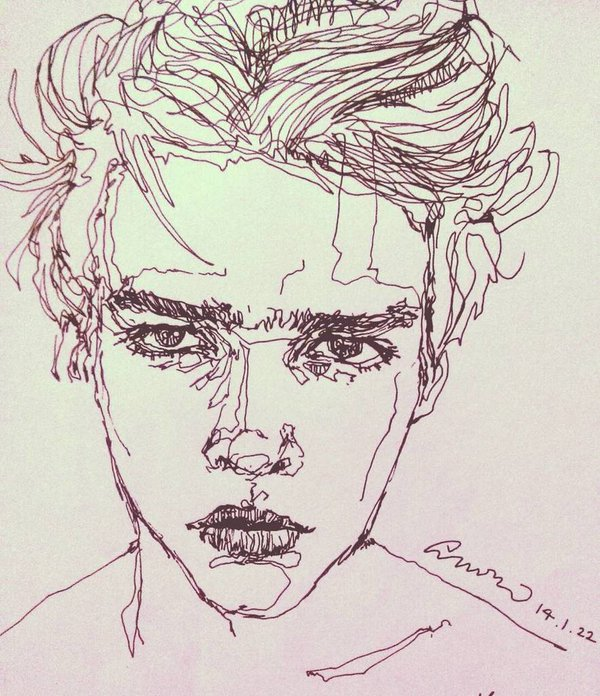 852x1024 Girl Face Drawing Tumblr 600x696 Hipster Man On Twitter