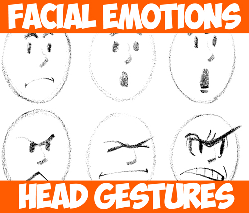 500x427 Drawing Cartoon Facial Expressions And Head Gestures