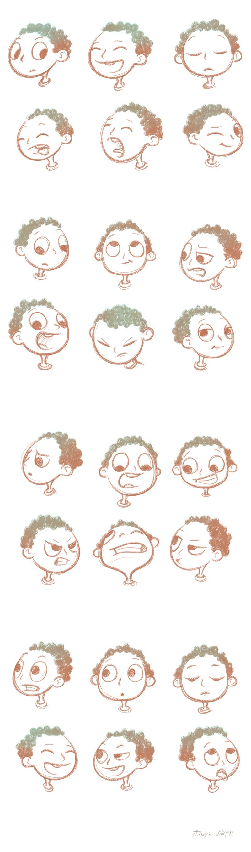 800x2707 Face Expressions Sketch On Behance