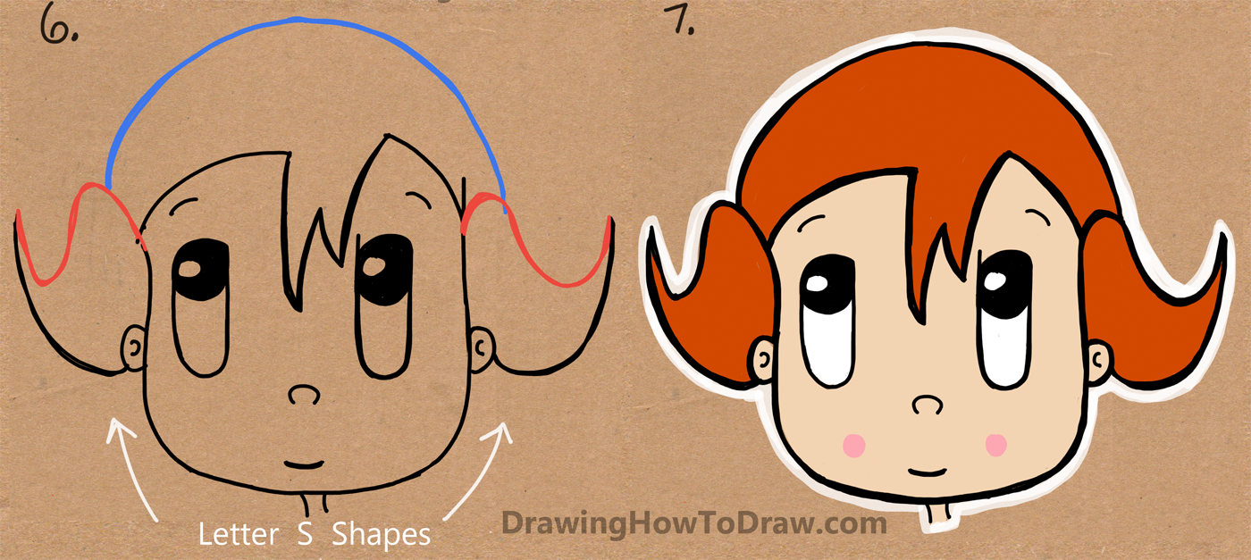 1400x627 How To Draw A Cartoon Girl From The Word Girl Easy Tutorial