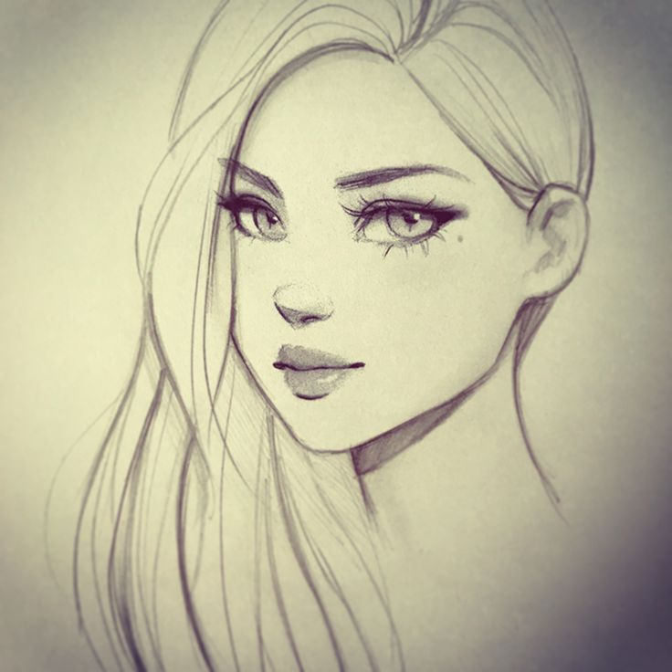 736x736 Photos Girl Face Drawing,