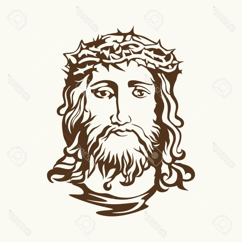 1024x1024 Best 15 Face Of Jesus Christ Stock Vector Drawing