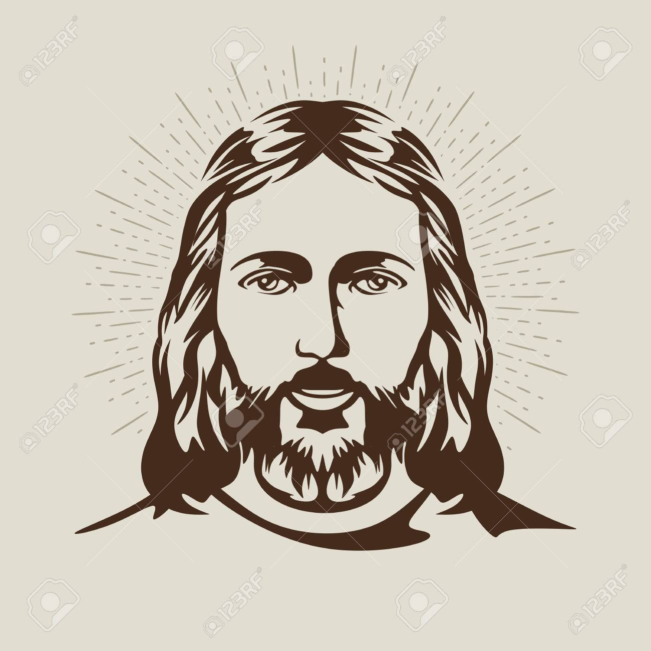 Face of jesus drawing at getdrawings free for personal use 1300x1300 face of jesus christ royalty free cliparts vectors and stock altavistaventures Gallery