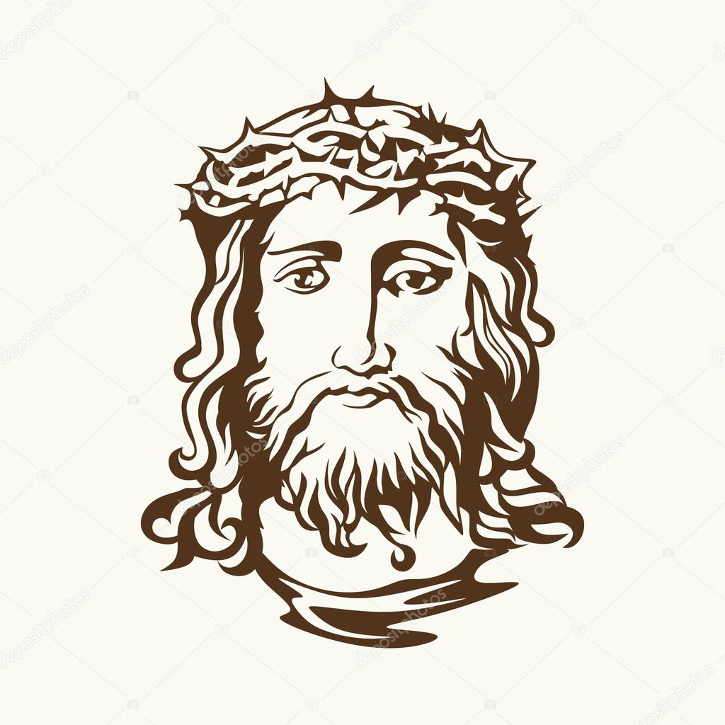 1024x1024 Face Of Jesus Christ Stock Vector Biblebox