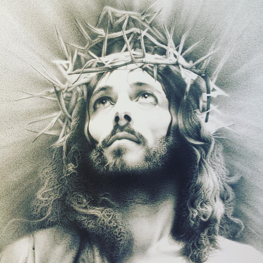 900x900 Jesus Drawing By Giampiero Damanias