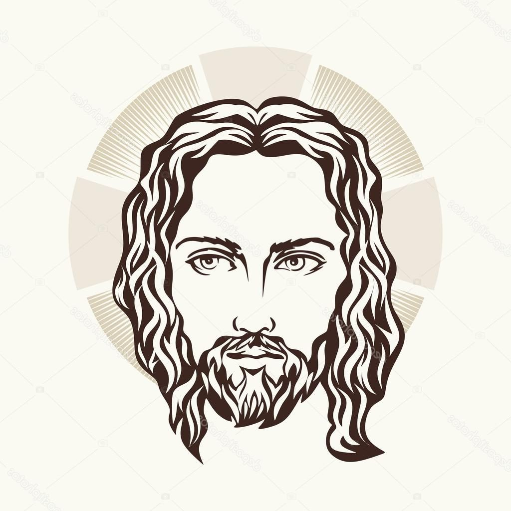 1024x1024 Unique Stock Illustration Face Of Jesus Hand Drawn Photos