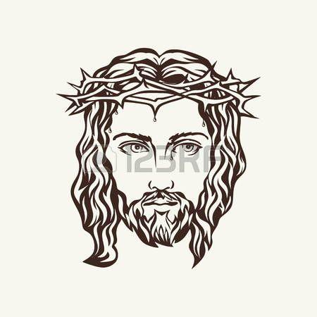 450x450 Jesus Face Of Jesus Hand Drawn Art Inspiration