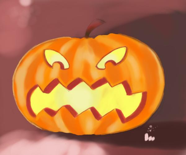 600x500 drawing pumpkin faces
