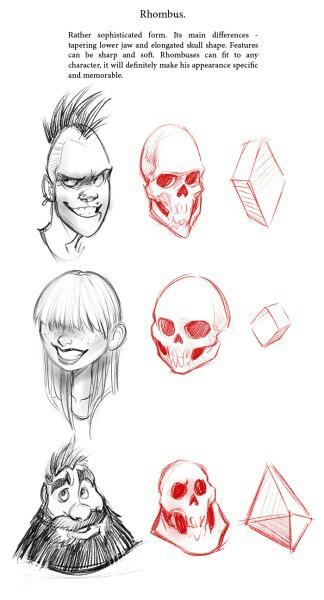 324x600 Rhombus Facial Shape Drawing Stuff Facial, Shapes