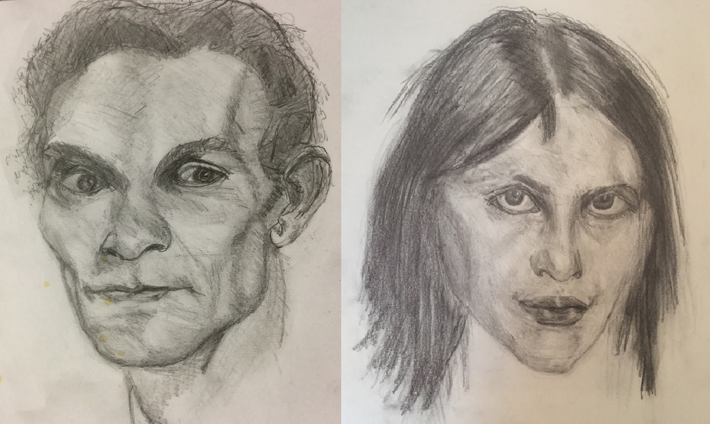 1390x831 Copy Drawings Of N. Fechin (Study Of The Skull And Face)