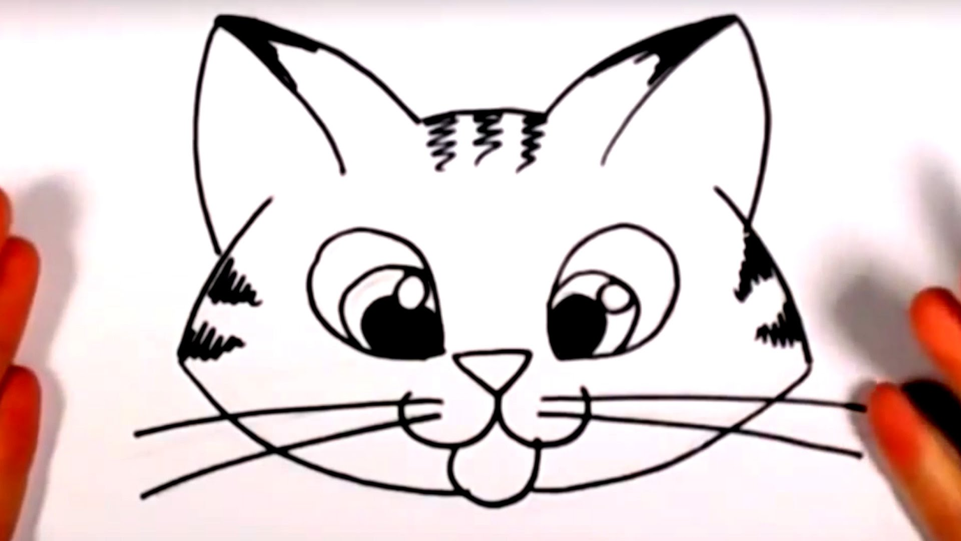 1920x1080 how to draw a cute kitten face