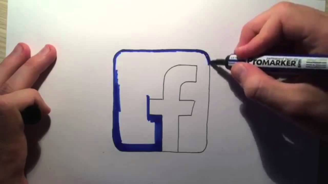 1280x720 How To Draw The Facebook Logo