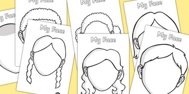 630x315 Free Blank Faces Templates
