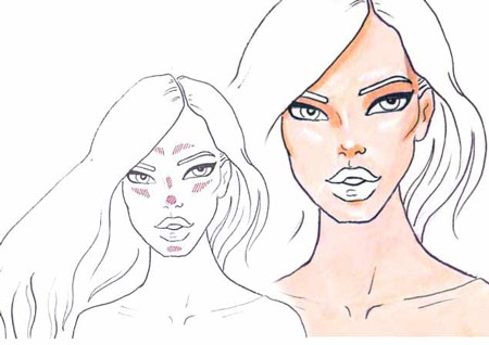 450x318 How To Draw Skin And How To Draw Shadows Step By Step Tutorial