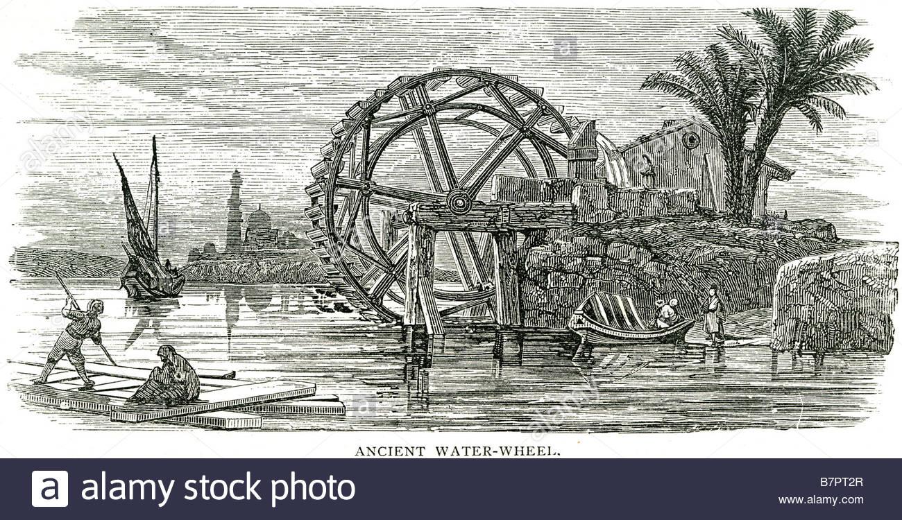 1300x750 Ancient Water Wheel Machine Hydropower Power Factories Sea Port