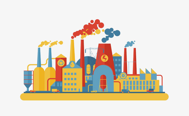 650x400 Factory Color Drawing, Chimney, Factory, Plant Png Image