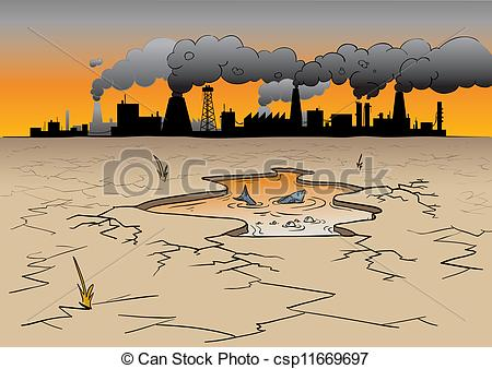 450x338 a place where factories cause environmental pollution and a eps