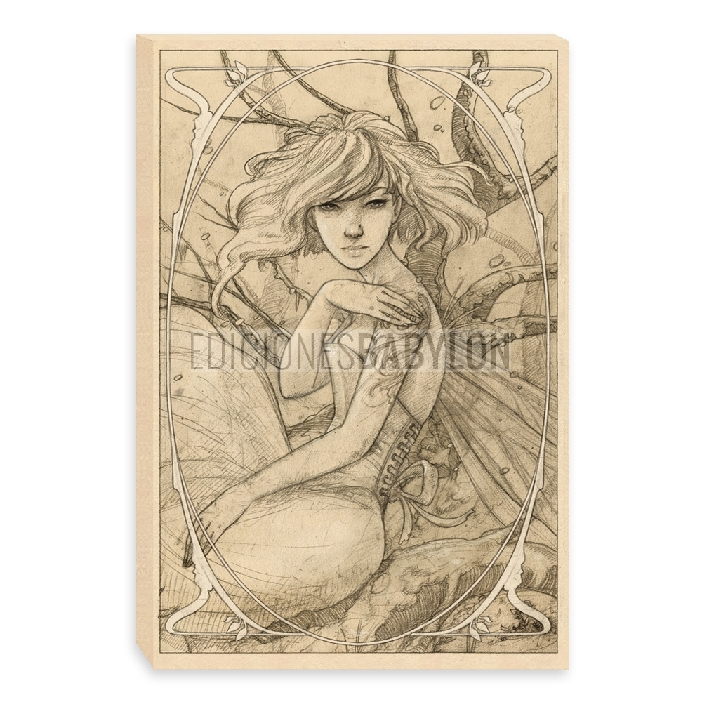 1000x1000 Pale Faerie Drawing (Canvas)