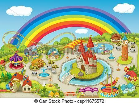 450x339 Fun Fair Drawing Fair Illustration Of A Fair Ayk Heaven