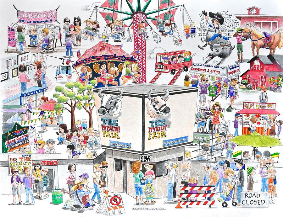 900x692 Fun Fair Mixed Media By Gertrudes Asplund