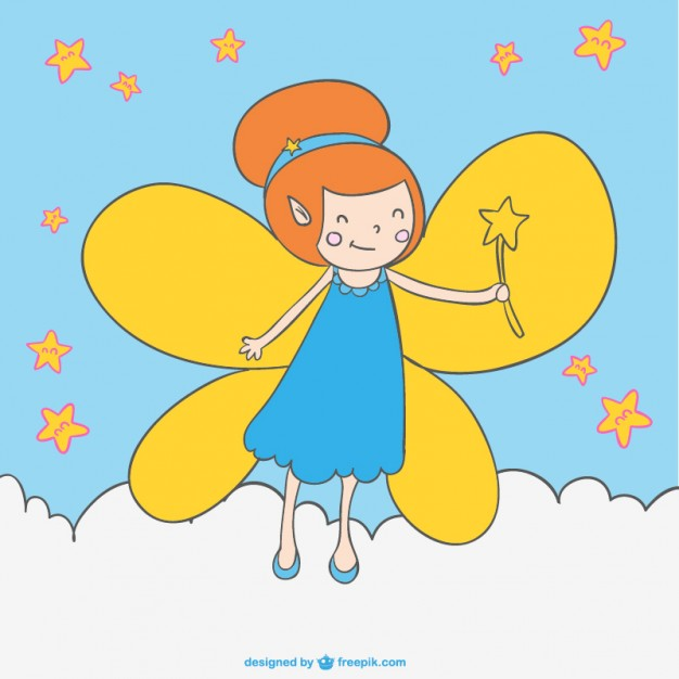 626x626 Cartoon Fairy Magic Wand Drawing Vector Free Download