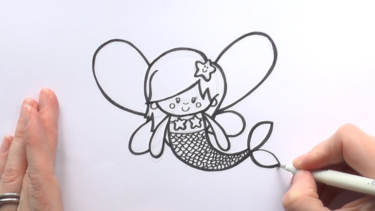 1280x720 How To Draw A Cartoon Fairy Mermaid