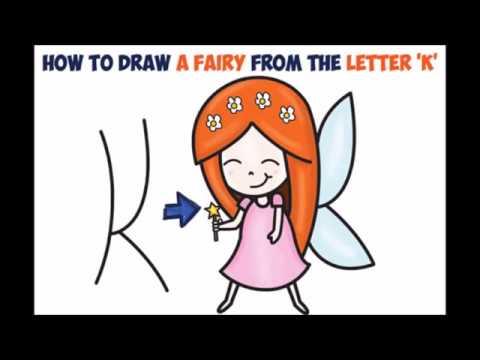 480x360 How To Draw A Cartoon Fairy Princess Cute Kawaii Easy Step By Step