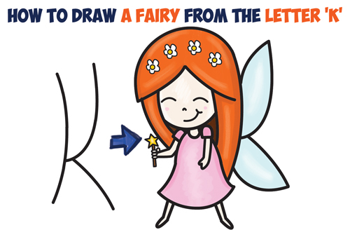 500x328 How To Draw A Cute Cartoon Fairy (Kawaii Chibi) From Letter