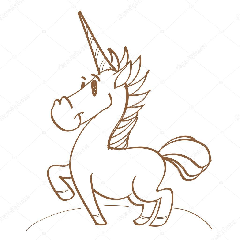 1024x1024 Unicorn In A Meadow, Colorful Logo Cartoon Style, Fairy Tale