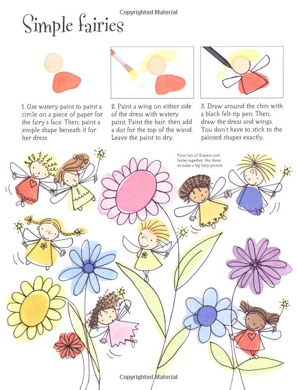 600x788 How To Draw Fairies And Mermaids (Usborne Activities) Fiona Watt