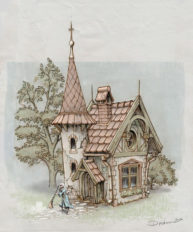 800x959 Fairy Tale House, Dominik Redmer On Artstation